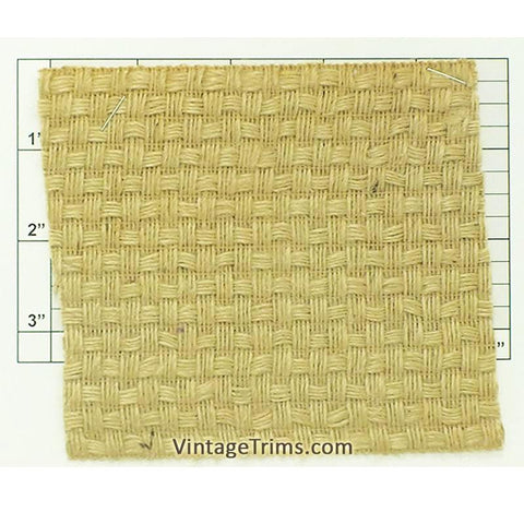 "Jute Wide Basketweave Braid 4-3/8"" (Per Yard) Natural"