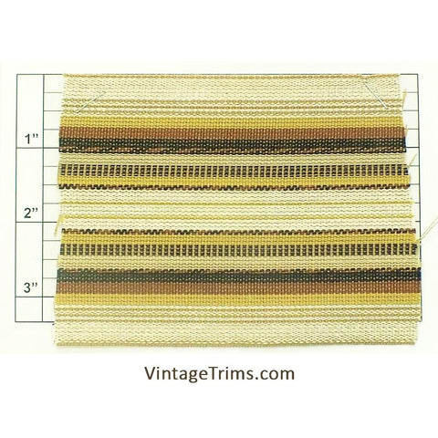 "Wide Woven Braid 3-5/8"" (Per Yard) Tan/Natural/Brown/Black/Gold"