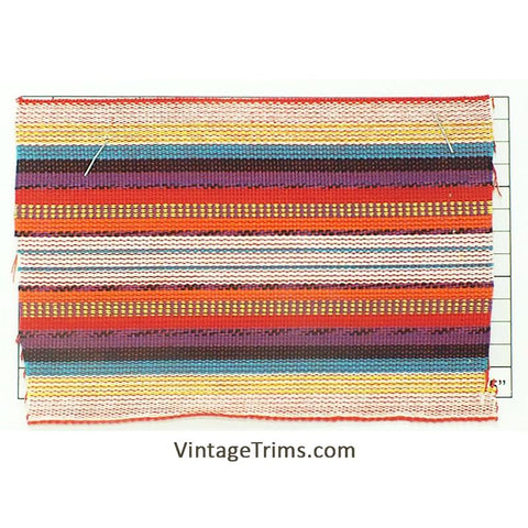 "Wide Woven Braid 3-5/8""<BR>(Per Yard)<BR>Red/White/Yellow/Cyan/<BR>Black/Purple/Orange"