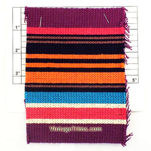 "Wide Woven Braid 6""<br>(5 Yard Roll)<br>Purple/Pink/Navy/Brown/<br>Orange/Turquoise/White"