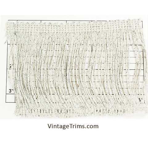 "Metallic Chainette Fringe 4"" (Metallic Silver)"