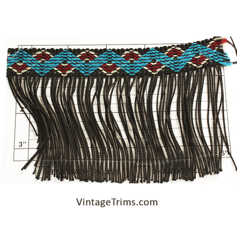 "Zig Zag Chainette Fringe 4"" (Per Yard) 3 Colors"