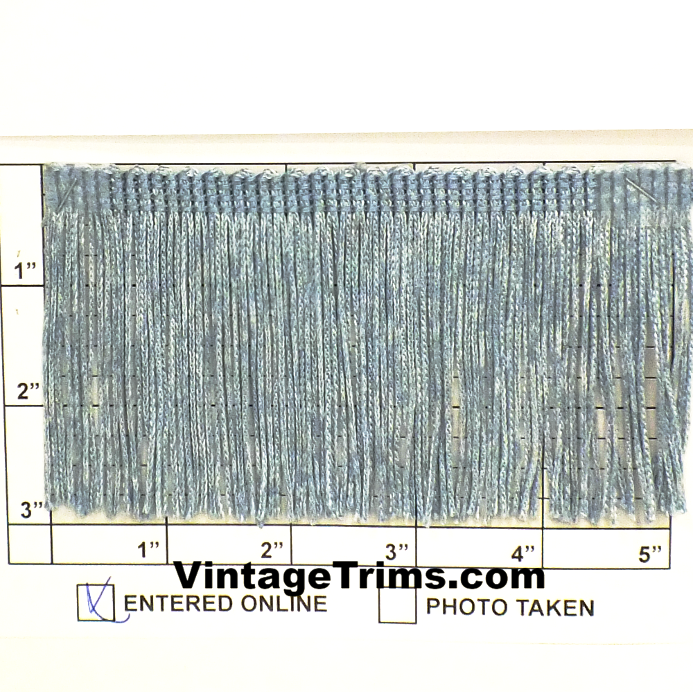 "Chainette Fringe 3"" (Per Yard) Denim Blue #1"