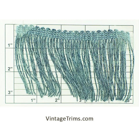 "Chainette Fringe 3"" (Per Yard) Denim Blue #3"