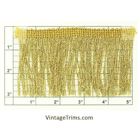 "Chainette Fringe 3"" (Per Yard) Metallic Gold"