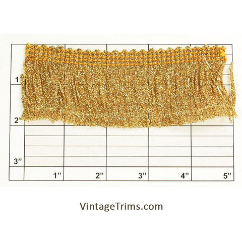"Metallic Chainette Fringe 1-7/8"" (Per Yard) 2 Colors"