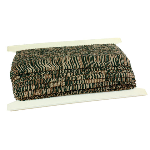 "Chainette Fringe 4"" (Per Yard) Hunter/Tan/Beige"