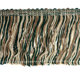"Chainette Fringe 2"" (Per Yard) Tan/Green/Brown"