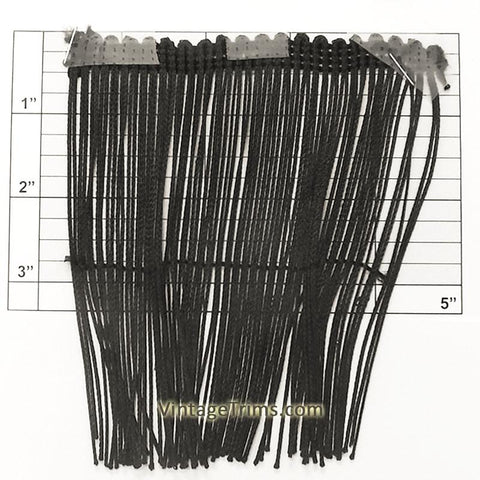 "Chainette Fringe 5"" (Per Yard) Black"