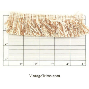 "Brush Fringe 1-1/2"" (Per Yard) Oyster/Tan"
