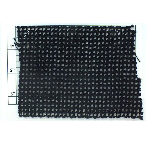 "Wide Woven Braid 3-7/8"" (Per Yard) Black"