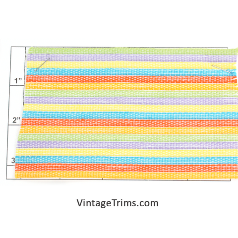 "Multi-Color Woven Braid 3""<br>(White/Green/Purple/Yellow/<br>Turquoise/Orange-Red/Neon Orange)"