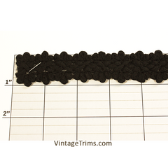 "Braid 1"" (Per Yard) Black"