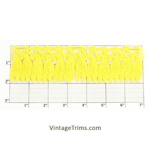 "Tassel Fringe 2"" (Per Yard) Canary Yellow"