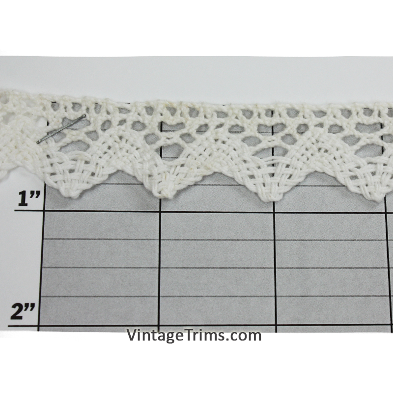 "Diamond Point Cluny Lace 7/8"" (Per Yard) Off-White"