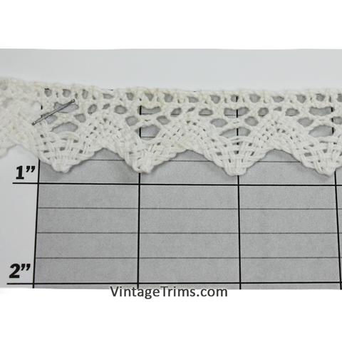 "Diamond Point Cluny Lace 7/8"" (Per Yard) White"