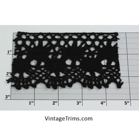 "Cluny Lace 2-1/2"" (Per Yard) Black"