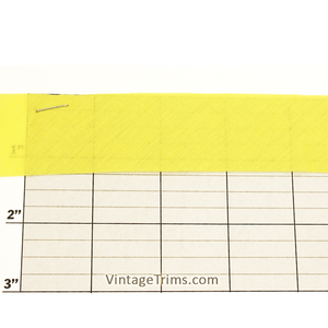 "Cotton Bias Tape 1-1/4"" (Per Yard) Canary"
