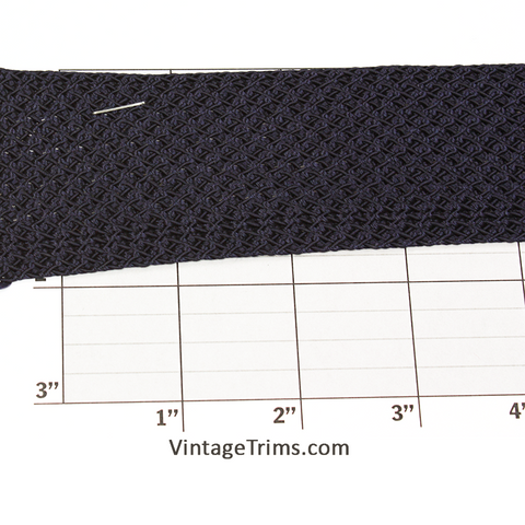 "Rayon Flat Braid Fabric Trim 1-3/4"" (36 Yard Roll) Navy"