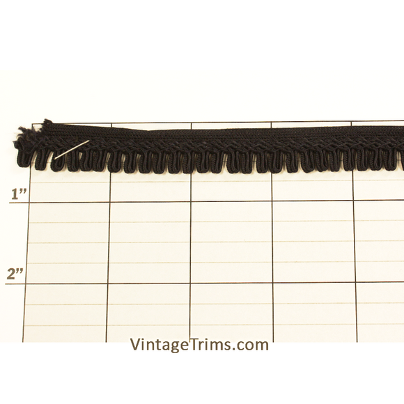 Flat Loop Fringe Fabric Trim 1/2