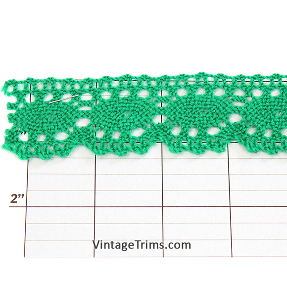Ovals Scalloped Edge Cluny Lace 1-1/4