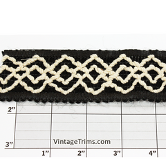 "Diamond Weave w/Leather Edge Unique Jacquard 1-3/4"" (Per Yard) 2 Colors"
