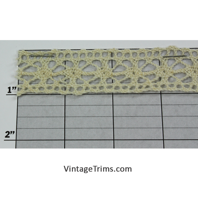 "Flat Lace 1"" (Per Yard) Off-White"