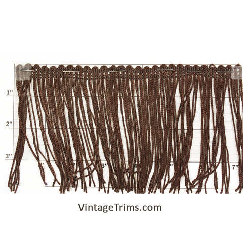 "Chainette Fringe 4"" (Per Yard) Brown"
