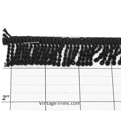 "Bullion Fringe 7/8"" (Per Yard) Black"