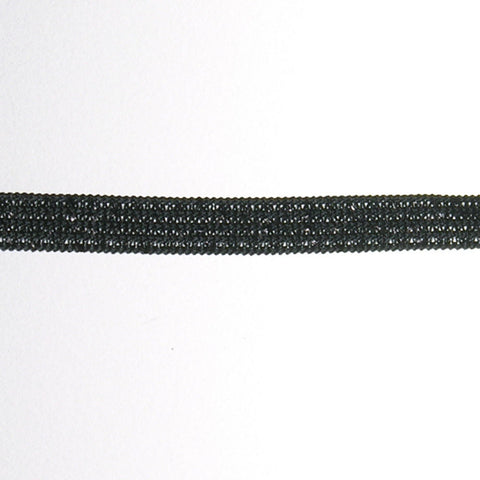 "Metallic Elastic 1/4"" - 5/16"" (288 Yard Roll) Black"