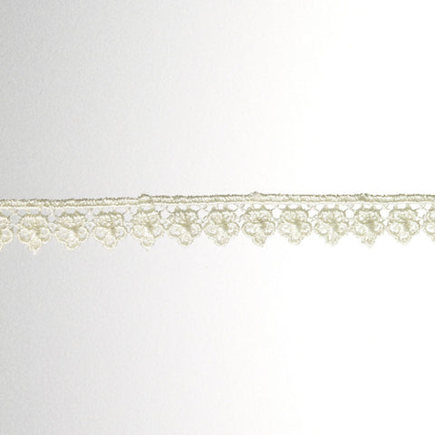 "Venice Lace 1/2"" (100 Yard Roll) White"