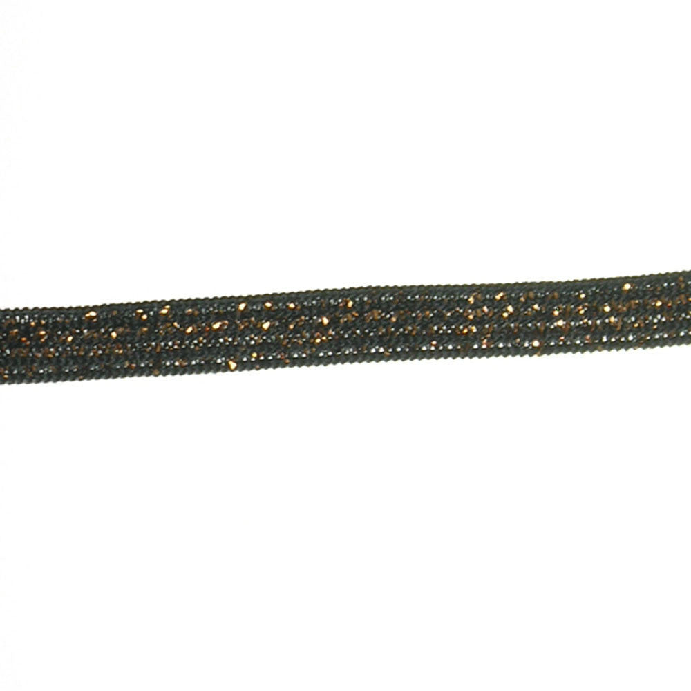 "3/8"" Elastic- Metallic Fabric Trim"