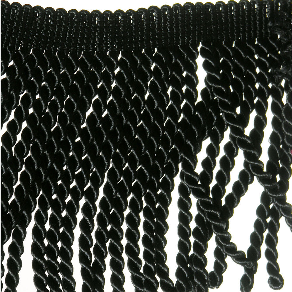"5 1/2"" Black Fringe- Bullion"
