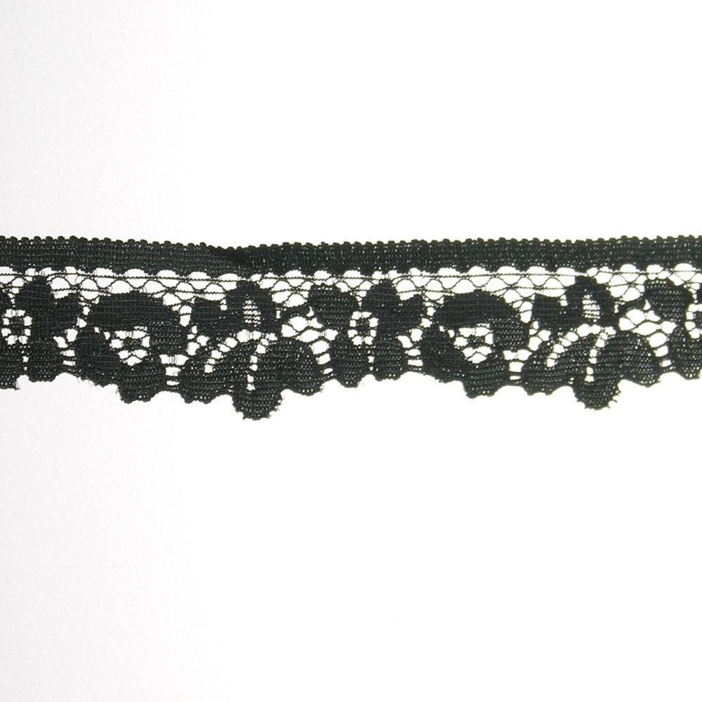 "1"" Elastic-Lace Fabric Trim"