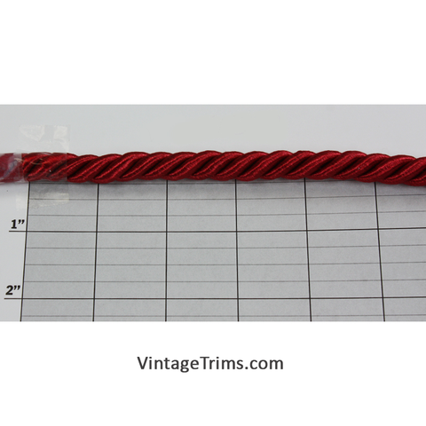 "Cording 3/8"" (30 Yard Roll)Cherry Red"