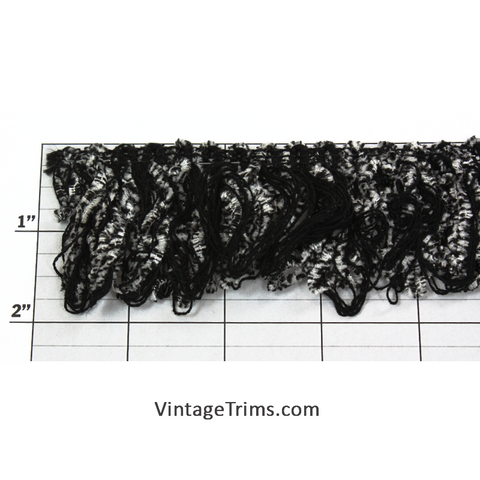"Jungle Jungle Chenille/String Loop Style Fringe 2"" (Per Yard) 2 Colors"
