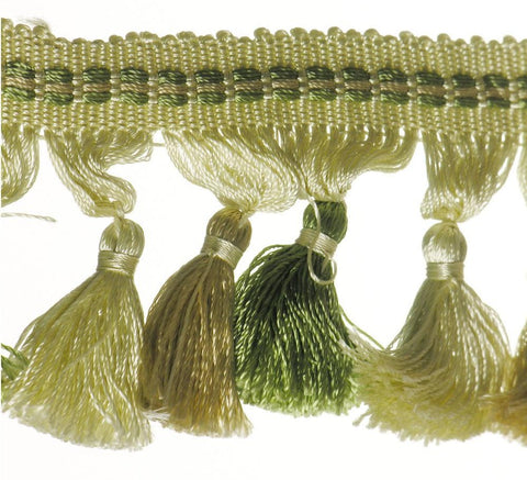 "Tassel Fringe 2-1/2"" (Per Yard) 9 Colors"