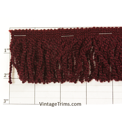 "Boucle Chainette Fringe 2"" (25 Yard Roll)Wine"