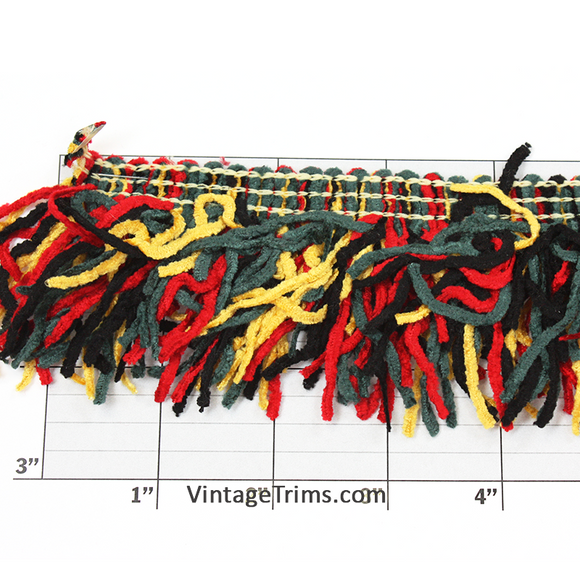 Versaille Multicolor Rayon Chenille Fringe 2-1/2