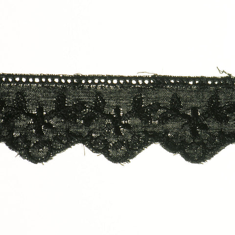 "Eyelet Lace 1"" (Per Yard) Black"