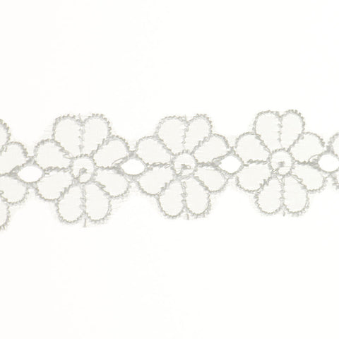 "Daisy Eyelet Lace 1-1/8"" (Per Yard) 2 Colors"