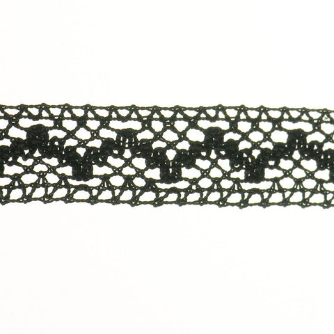 "Cluny Lace 3/4"" (Per Yard) Black"