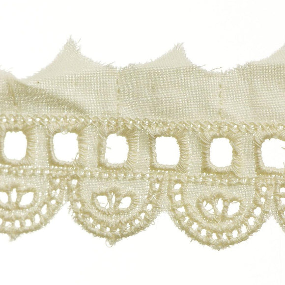 "2"" Lace- Eyelet Fabric Trim"