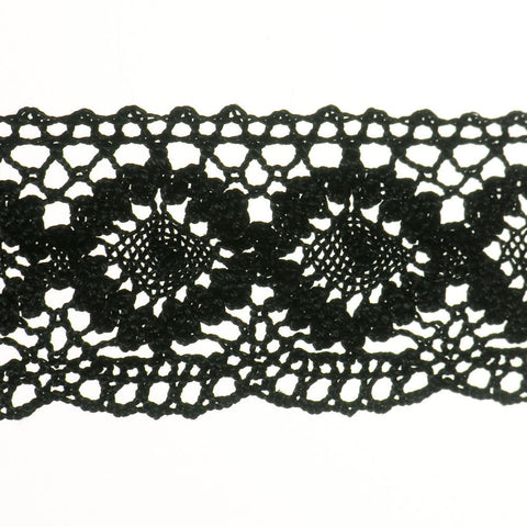 "Cluny Lace 2"" (Per Yard) Black"