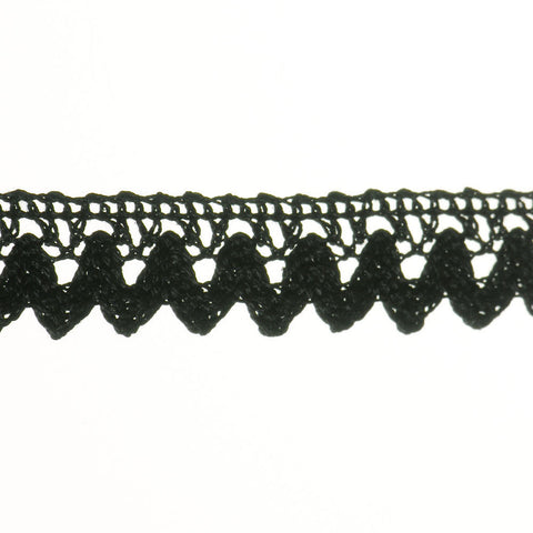 "Swag Cluny Lace 7/8"" (Per Yard) Black"