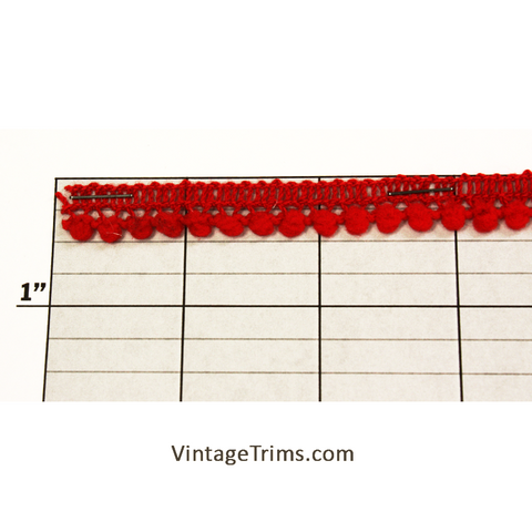 "Ball Fringe 3/8"" (Per Yard) Red"
