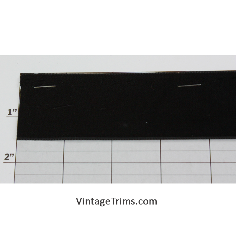 "Flat Velour 1-1/2"" (Per Yard) Black"