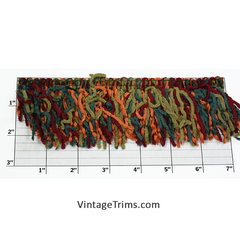 "Versaille Multicolor Rayon Chenille Fringe 2-1/2"" (Per Yard) 13 Colors"