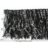 "Jungle Jungle Chenille/String Fringe 3"" (Per Yard) 5 Colors"