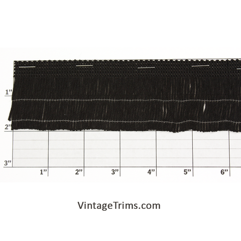 "Chainette Fringe 2"" (22 Yard Roll) Black"